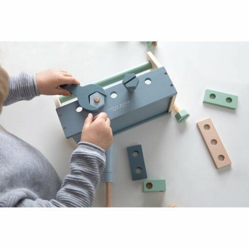 Húnar - 0005330 little dutch childrens toolbox blue 6 1000