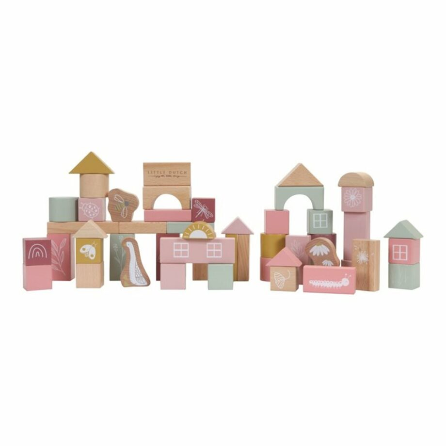 Húnar - 0011840 bouwblokken in ton roze 1000