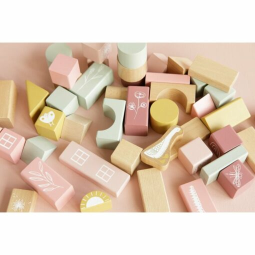 Húnar - 0011884 bouwblokken in ton roze 1000
