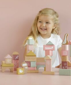 Húnar - 0011885 bouwblokken in ton roze 1000
