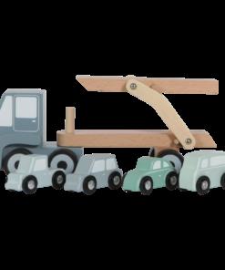 Húnar - 0005472 little dutch transport truck blue blue 3