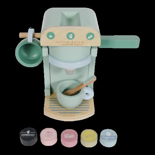 Húnar - 0005504 little dutch childrens coffee machine mint 2