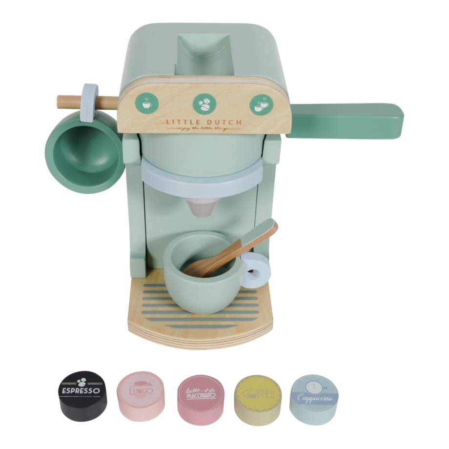 Húnar - 0005504 little dutch childrens coffee machine mint 2